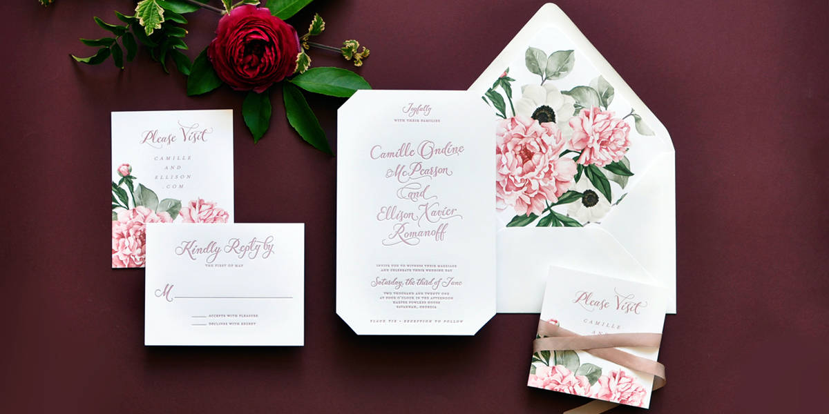 Smitten on Paper Camille Wedding Invitation