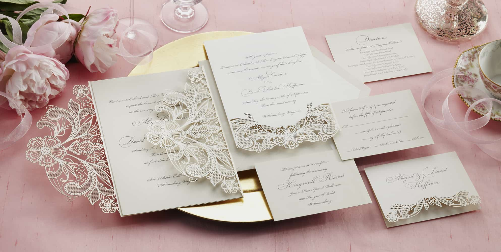 William Arthur Laser Cut Wedding Invitation
