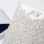 William Arthur Laser Cut Pocket Wedding Invitation
