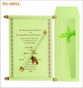 Scroll Wedding Invitation - Indian Wedding Invitations