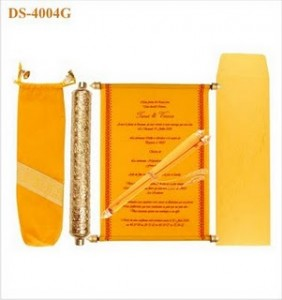 Velvet Scroll Wedding Invitation - Indian Wedding Invitations