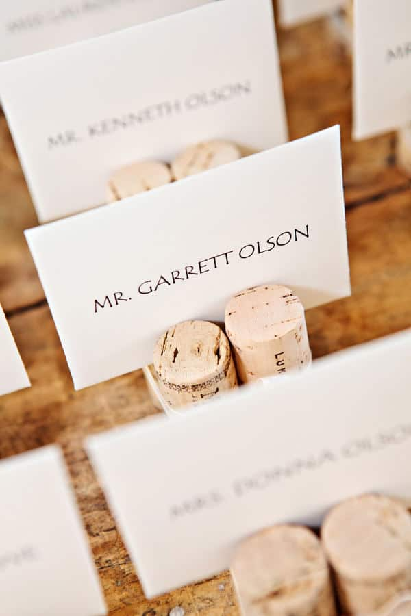 place cards from hyegraph invitations and calligraphy