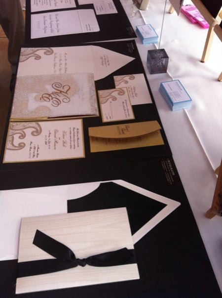 Hyegraph Invitations & Calligraphy Wedding Invitations at the Hiddenbrooke Golf Club Bridal Show