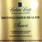 Carlson Craft Excellence Award for Hyegraph Invitations and Calligraphy San Francisco