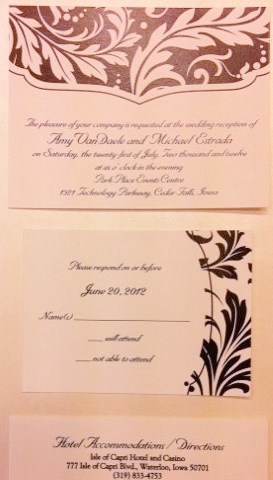 Wedding Reception Cards, Wedding Response Cards, Wedding Accommodations Cards Hyegraph Invitations San Francisco