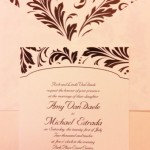 Damask Wedding Invitations Hyegraph Invitations San Francisco