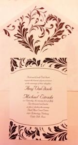 Damask Wedding Invitations Hyegraph Invitations San Francisco