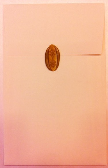 Custom Wax Seal on envelope