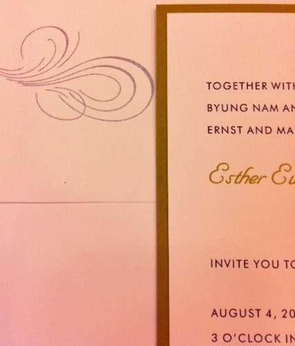 wedding invitations in english