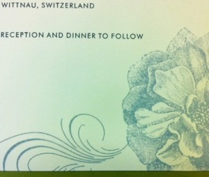 Wedding Invitation in German