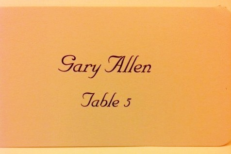 Place Card wiith Calligraphy