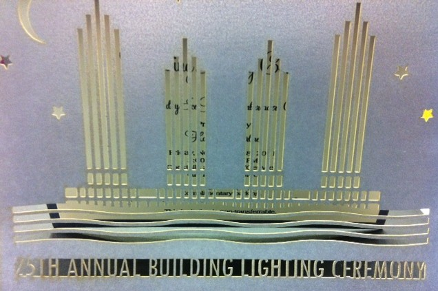 25th Annual Building Lighting Ceremony Cards at Embarcadero Center