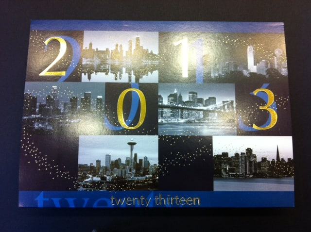 USA City Skylines Twenty Thriteen 2013 City Holiday Cards