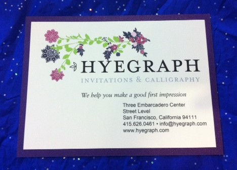 wedding invitations and calligraphy hyegraph san francisco