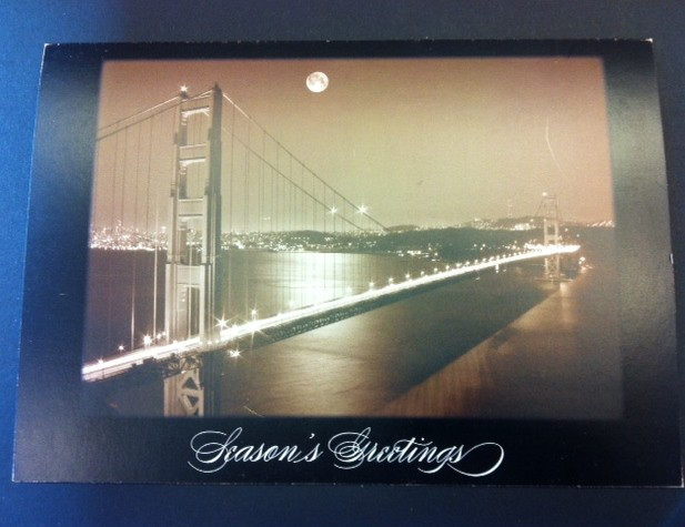 sf golden gate bridge custom holiday cards at Hyegraph San Francisco