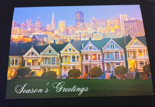 sf houses scene holiday cards at Hyegraph San Francisco
