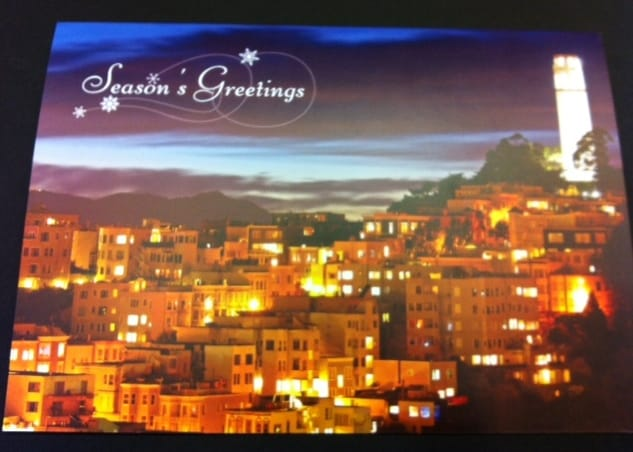 Coit Tower Holiday Cards San Francisco