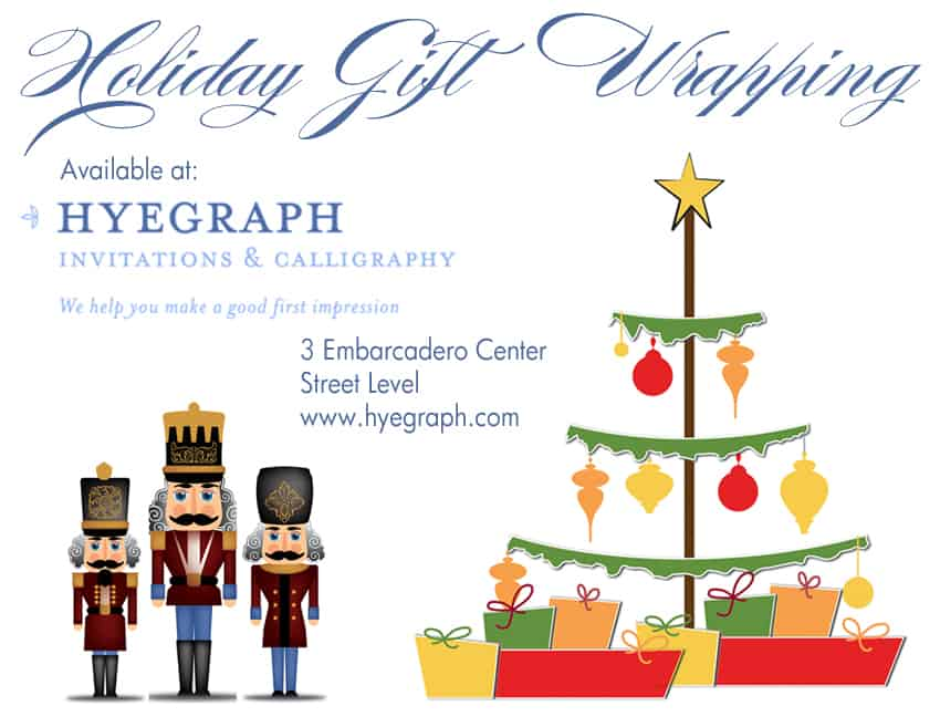 Holiday Gift Wrapping Available at Hyegraph
