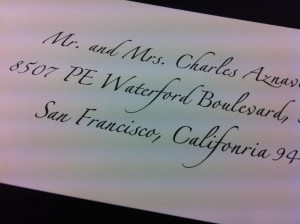 Calligraphy for Wedding Envelope Addressing