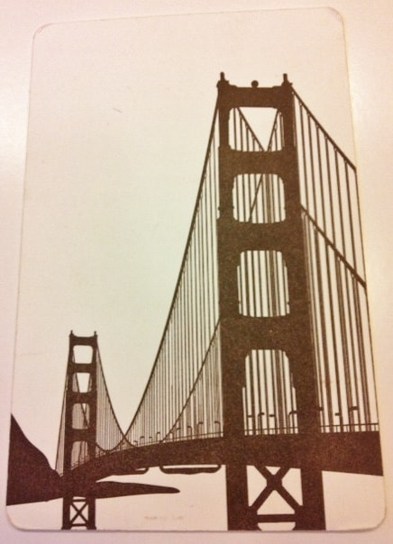Golden Gate Bridge Wedding Invitation in Letterpress back side by Hyegraph Invitations & Calligraphy