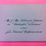 san francisco california envelope calligraphy