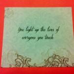 Calligraphy printed on invitation insert