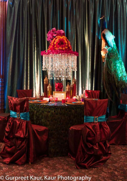 Jewel Toned Indian Wedding Place Cards & Menus