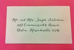 Calligraphy service for boston massachsetts