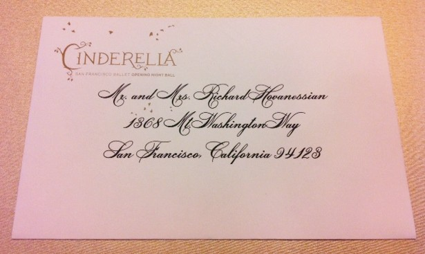 Sf Ballet Save The Date Cards Envelope Calligraphy
