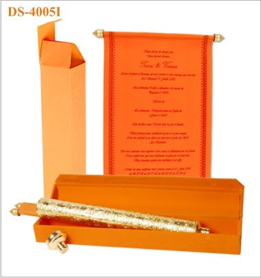 Indian Scroll Wedding Invitation by www.hyegraph.com