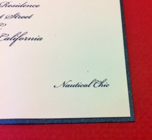 "Louis Vuitton Cup Finals Party Invitation dress attire wording ""Nautical Chic"""