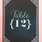 Chalkboard style table numer