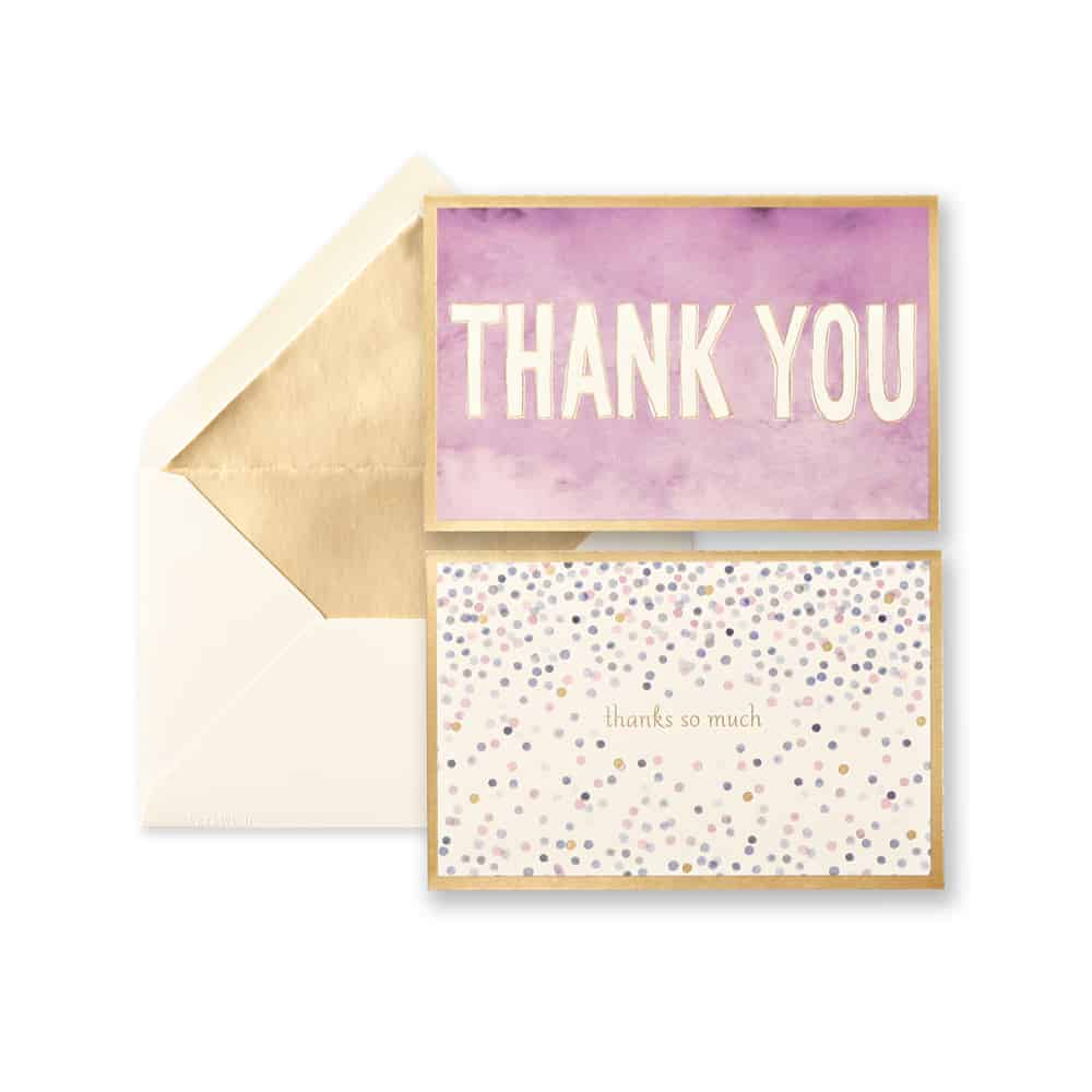 Watercolor Thank You Note form Vera Wang
