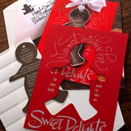 Gingerbread Cookie Cutter Holiday Card