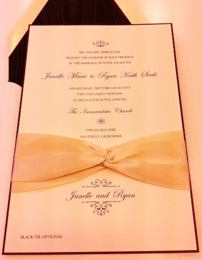 Wedding Invitation with Satin Bow