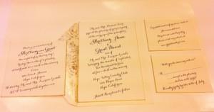 antique wedding invitation