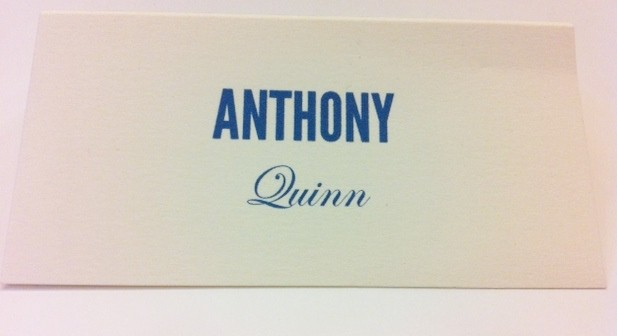 Place Cards for Wedding in San Francisco