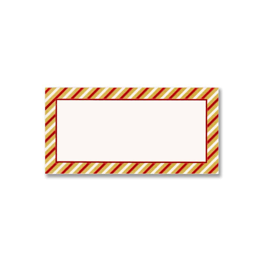 Striped Holiday Place Card