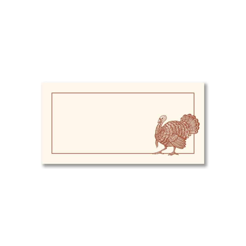 Holiday Turkey place card