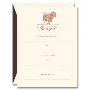 Thanksgiving Invitation Card