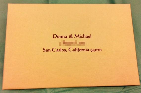 Calligraphy for invitation envelope addressing
