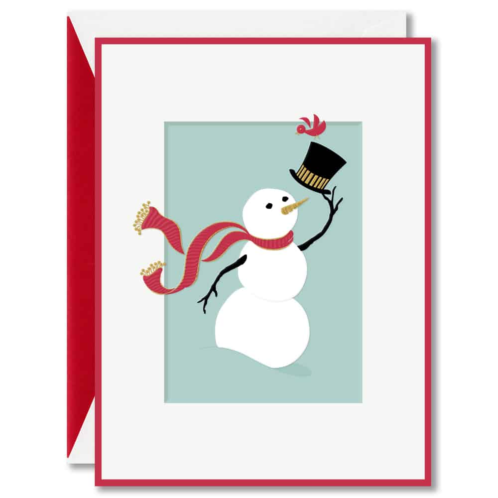 William Arthur Snow Man Holiday Card