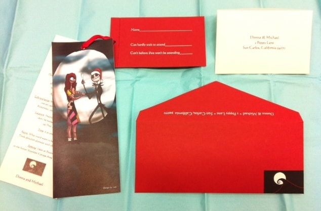 Custom Holiday Invitation Suite~Nightmare Before Christmas