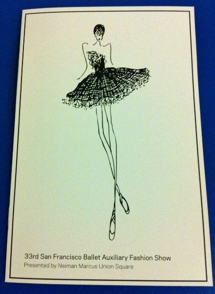San Francisco Ballet 33rd Auxiliary Fashion Show Invitation from Delphine Press