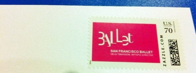 San Francisco Ballet custom stamp from zazzle