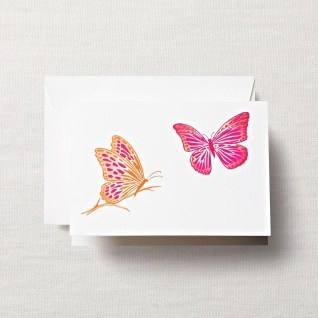 Crane & Co. Brushstroke Butterflies Note Cards www.hyegraph.com