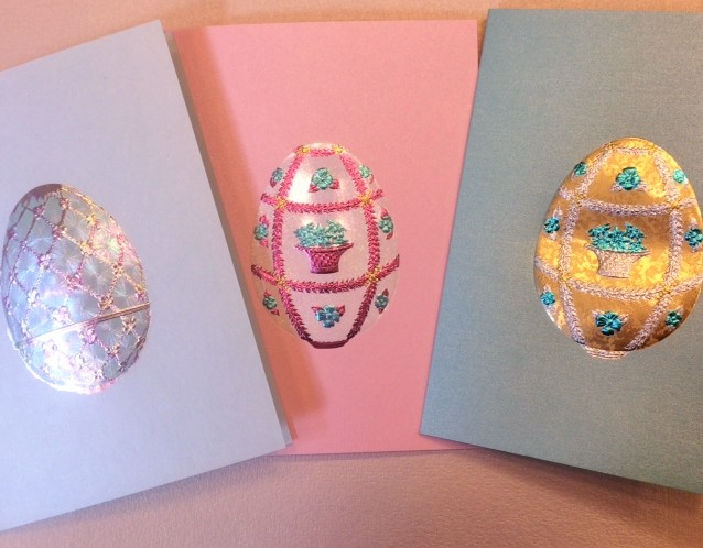 Happy Easter Greeting Card in Faberge Egg from Paula Skene of San Francisco