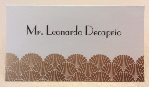Place Card printed with Hyegaph's Digital Calligraphy