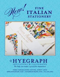ROSSI papers and wedding invitations available at Hyegraph Invitations & Calligraphy