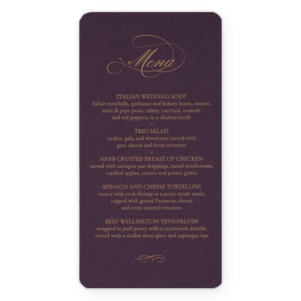 plum_and_gold_wedding_menu_card